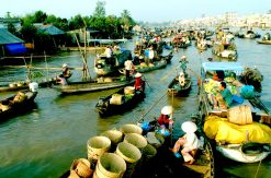 MEKONG TOUR : CAI BE FLOATING MARKET – VINH LONG